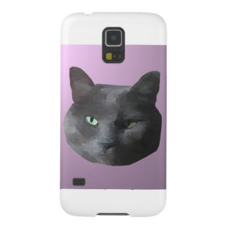 Low Poly Black Cat Galaxy S5 Cases