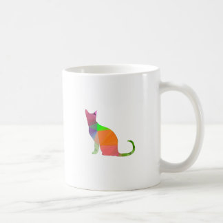 Low Poly Cat Silhouette Coffee Mug
