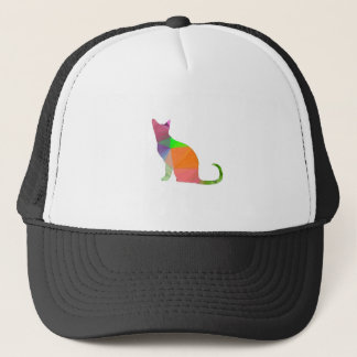 Low Poly Cat Silhouette Trucker Hat