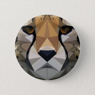 Low Poly Cheetah 6 Cm Round Badge