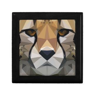 Low Poly Cheetah Gift Box