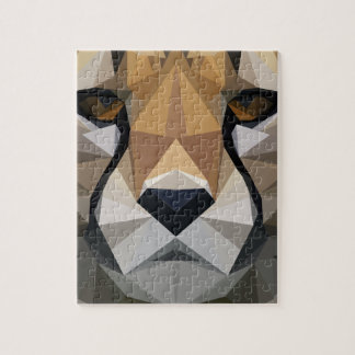 Low Poly Cheetah Jigsaw Puzzle