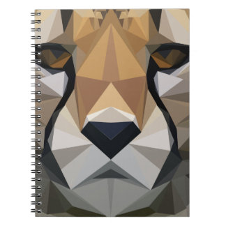 Low Poly Cheetah Notebooks