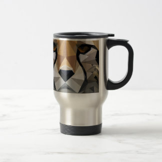 Low Poly Cheetah Travel Mug