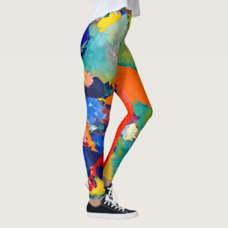 Low poly design Leggings
