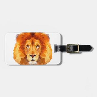 Low poly design. Lion illustration Luggage Tag