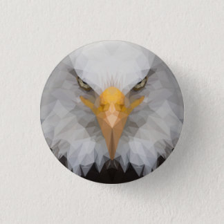 Low poly eagle badge