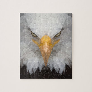 Low poly eagle puzzle