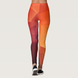 Low Poly Fiyah Leggings