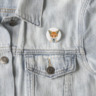 Low poly fox badge