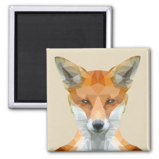 Low poly fox beige magnet