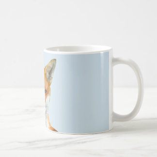 Low poly fox mug