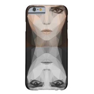 low poly girl barely there iPhone 6 case