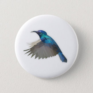 Low Poly Hummingbird button
