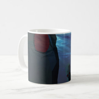 Low poly octopi sculpt coffee mug