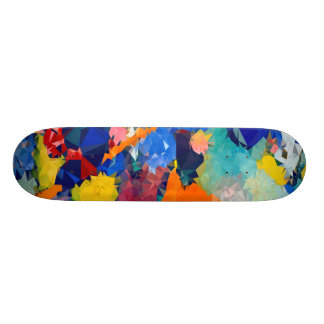 Low poly Red & Blue Skateboards 17¾""