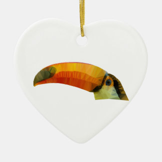 Low Poly Toucan Ceramic Ornament