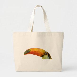 Low Poly Toucann Large Tote Bag