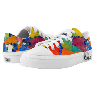 Low poly Zipz Low Top Shoes, US Men 4 / US Women 6