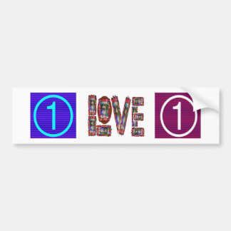 Low Price MOTIVATIONAL Tool  NUMBER ONE LOVE TXT Bumper Sticker
