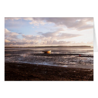 LOW TIDE AT SUNSET CARD