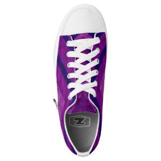 Low top purple printed converse Designer Sneakers