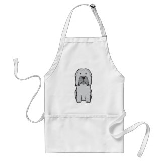Lowchen Dog Cartoon Standard Apron