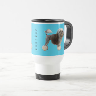 Lowchen on Blue Travel Mug