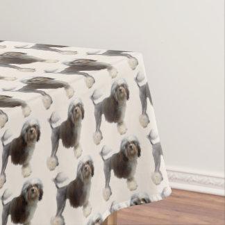 Löwchen on Tan Tablecloth