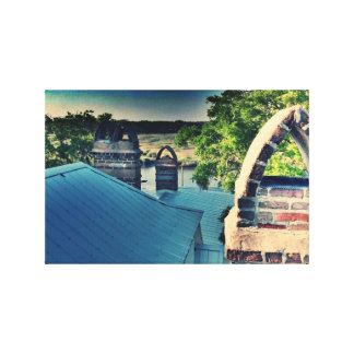 Lowcountry Rooftop Scene Canvas Print