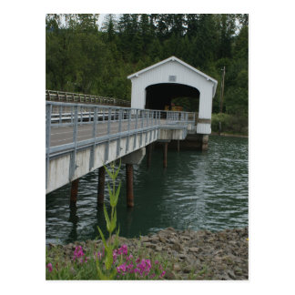 Lowell Covered Bridge Postcard