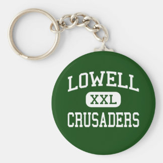 Lowell - Crusaders - Catholic - Lowell Basic Round Button Key Ring