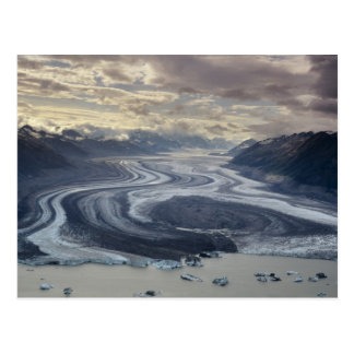 Lowell Glacier flows into the Alsek River in Postcard