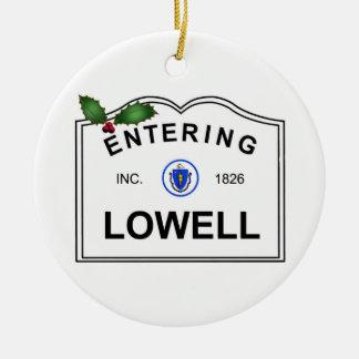 Lowell MA Ceramic Ornament
