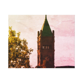 LOWELL MASS CITY HALL WRAPPED CANVAS PRINT