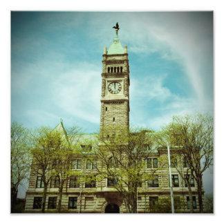 LOWELL MASSACHUSETTS CITY HALL PHOTO PRINT