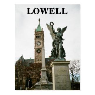 LOWELL MASSACHUSETTS CITY HALL POSTCARD