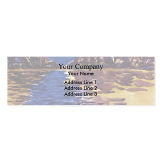 Lower Ausable Lake, Adirondacks by George Luks Pack Of Skinny Business Cards