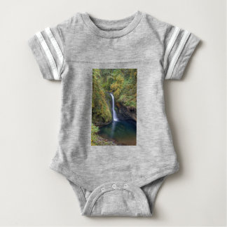 Lower Butte Creek Falls Plunging into a Pool Baby Bodysuit
