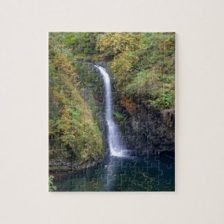 Lower Butte Creek Falls Plunging into a Pool Jigsaw Puzzle