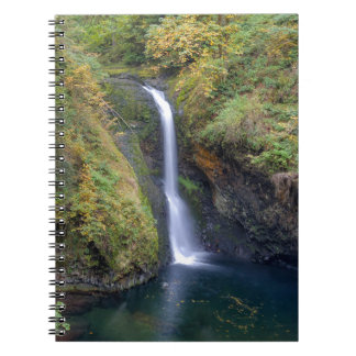 Lower Butte Creek Falls Plunging into a Pool Spiral Notebook