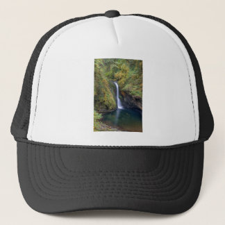 Lower Butte Creek Falls Plunging into a Pool Trucker Hat