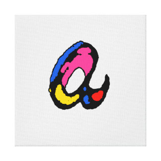 lower case A Stretched Canvas Prints