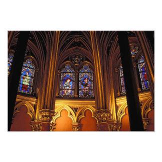 Lower chapel of La Sainte-Chapelle, Paris, 2 Photo Print