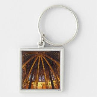 Lower chapel of La Sainte-Chapelle, Paris, Silver-Colored Square Key Ring