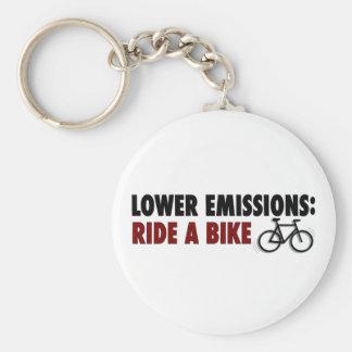 Lower Emissions Ride A Bike Key Ring