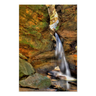 Lower Falls, Conkle's Hollow, Ohio Poster