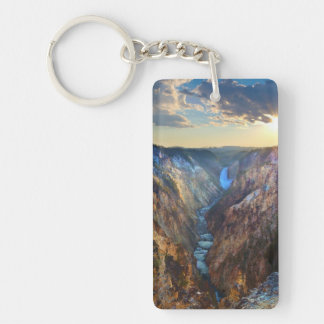 Lower Falls from Artist's Point Key Ring