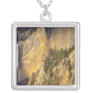 Lower Falls in the Grand Canyon of the Square Pendant Necklace
