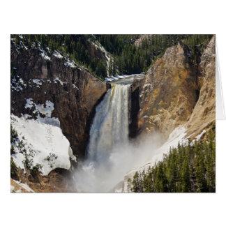 Lower Falls of the Yellowstone Big Greeting Card